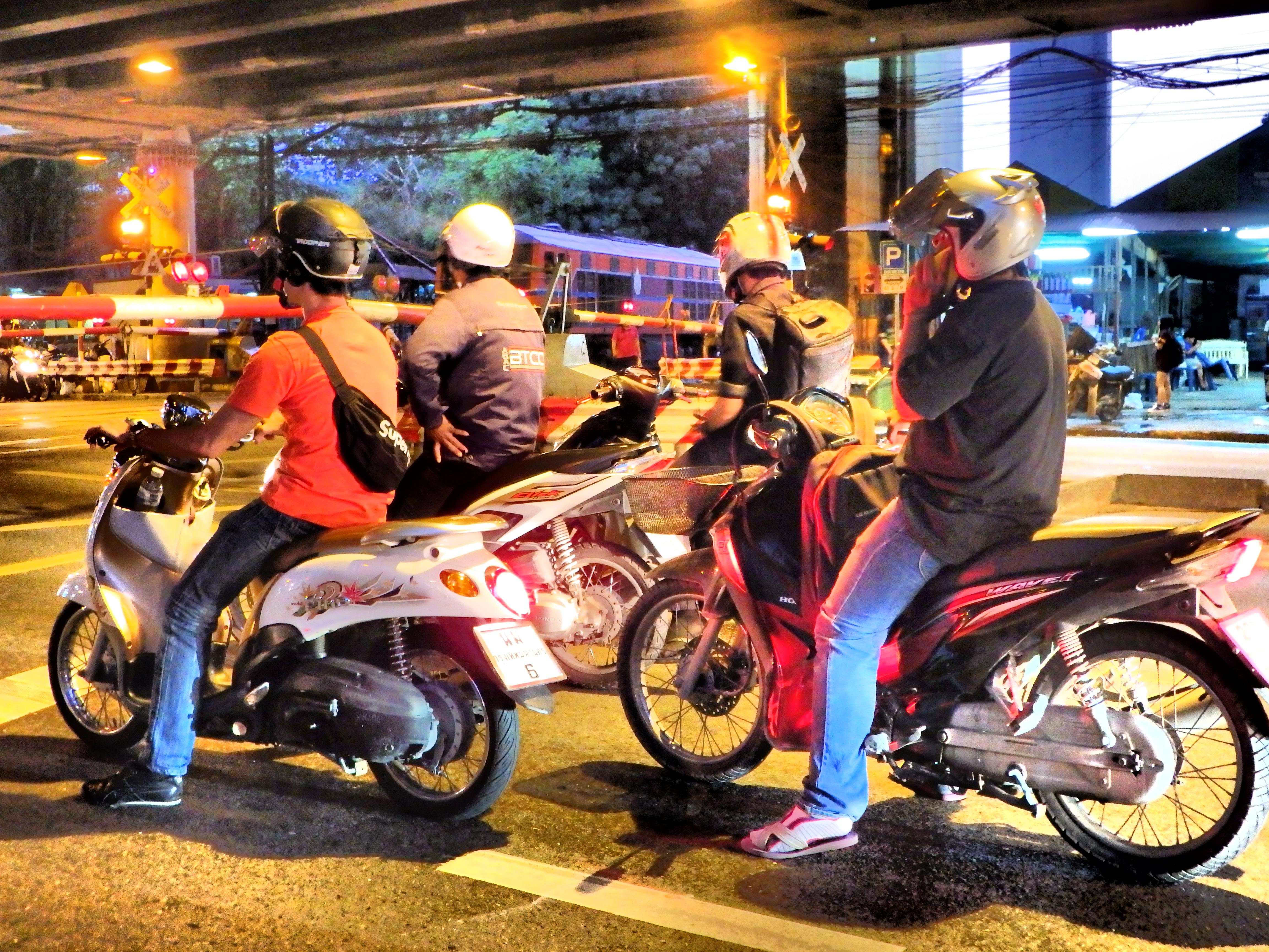 Bangkok Thailand Scooters