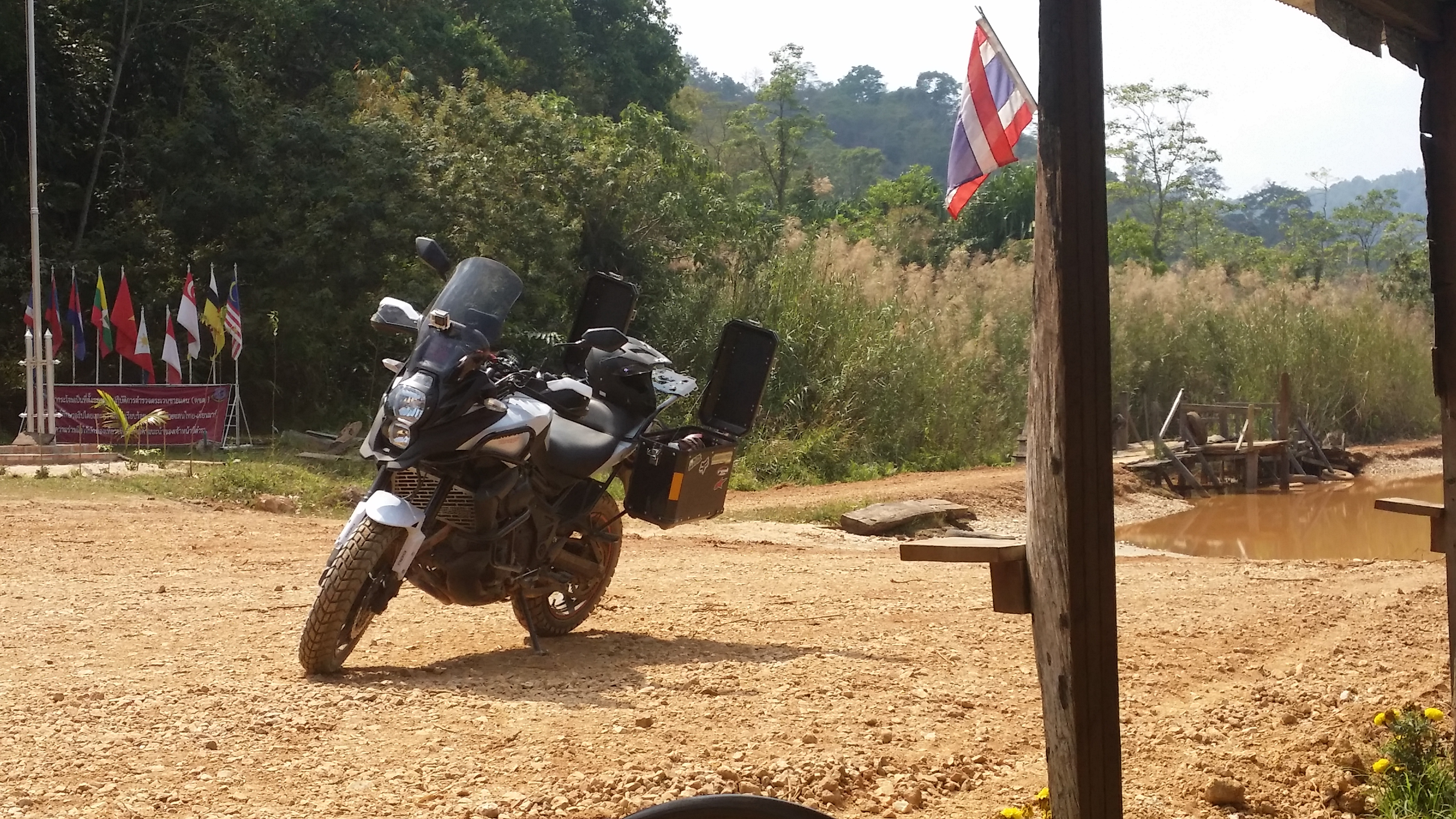 Khao Krajom Mountain Suan Pheung district Kawasaki Versys