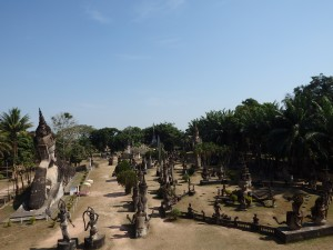 Don't expect ancient ruins at Buddha Park Vientiane Laos
