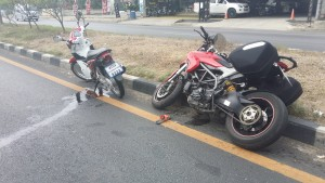 Ducati Hyperstrada Crash Thailand