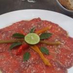 Beef Carpaccio Laos French food Vientanne