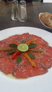 Beef Carpaccio Laos French food Vientanne