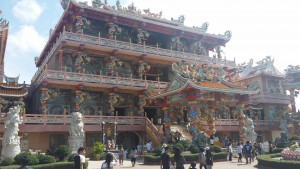 Wat Thep Phuttharam Chinese temple in Chonburi near Pattaya