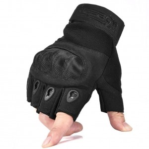 Reebow Gear Military Fingerless Hard Knuckle Tactical Gloves Half Finger for Army Gear Sport Driving