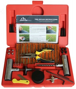 Boulder Tools Heavy Duty Tire Repair Kit - 56 Pc Set For Motorcycle, ATV, Jeep, Truck, Tractor Flat Tire Puncture Repair
