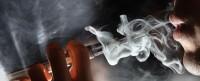 Vape E-cigarette on plane