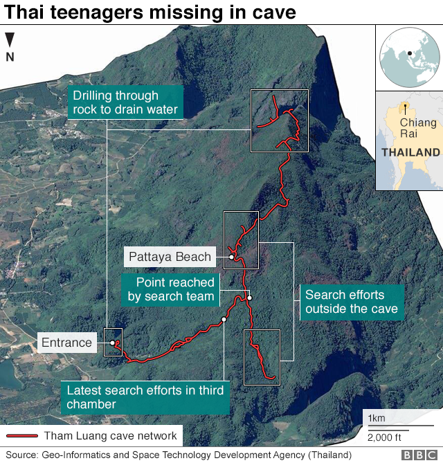 Missing Thai boys 'found alive' in caves